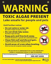 Toxic Algae Warning Sign