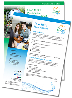 Savvy Septic information fliers