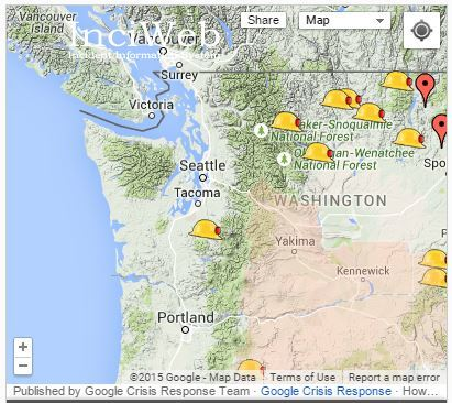 Washington Wildfire Resources - map