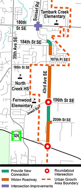 43rd Ave SE project area map