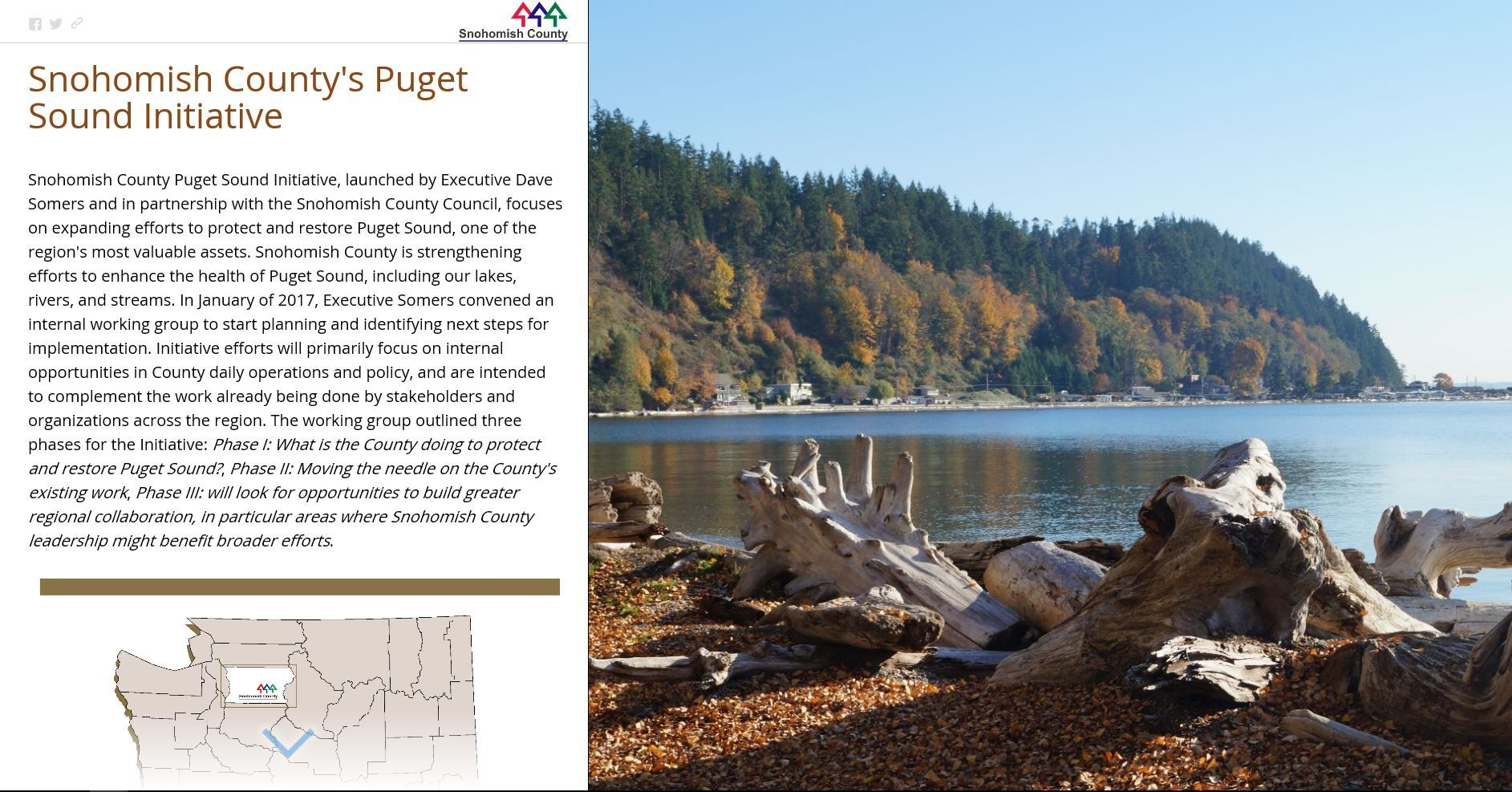 Snohomish County Executive's Puget Sound Initiative