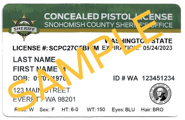 Concealed Pistol Licenses | Snohomish County, WA - Official Website
