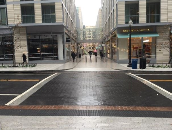 Textured Crossing and Pedestrian-Oriented Streetscape - Washington DC