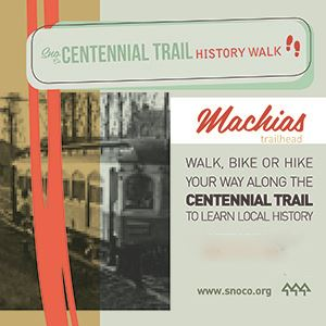 Centennial Trail Walk Sign